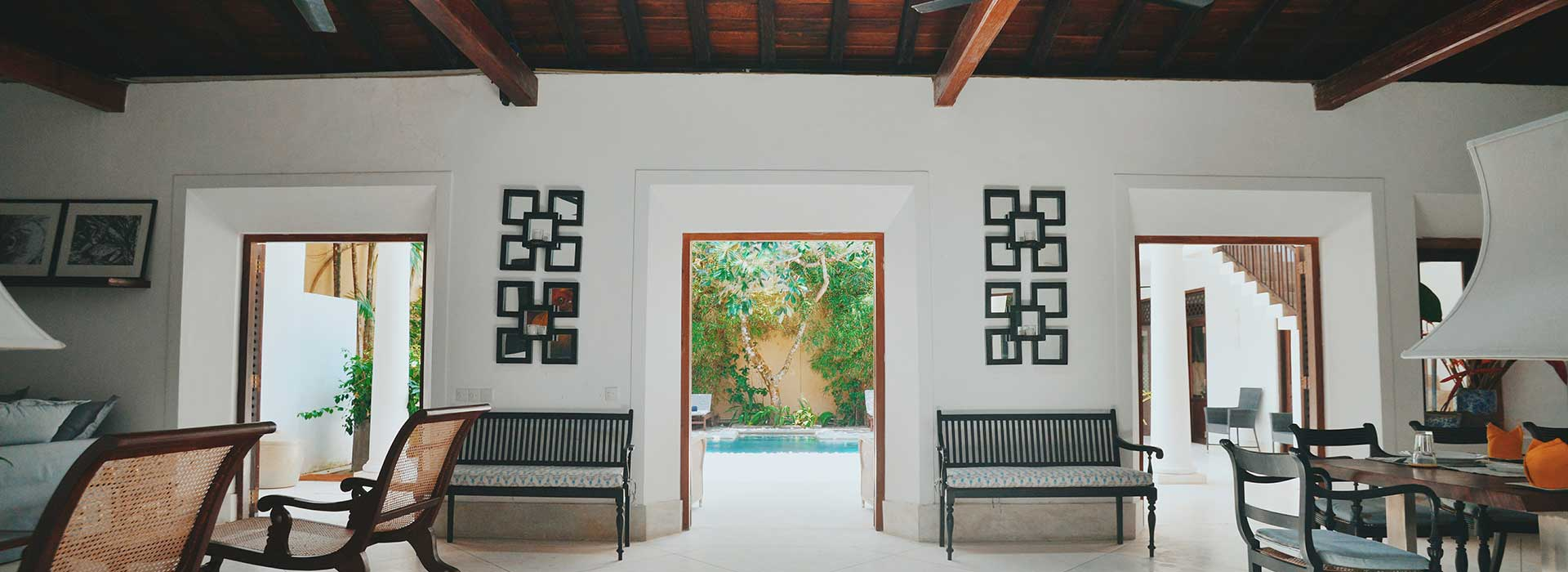 Interior of 32 Middle Street Luxury Boutique Hotel in Galle Fort